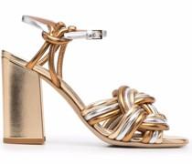 braided high-heel sandals