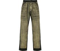 Ausgeblichene Jeans mit Kordelzug