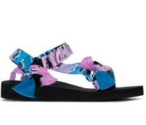 bandana-print strappy sandals