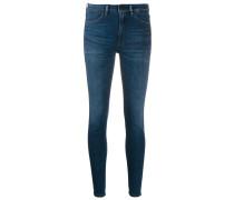 Hoch sitzende Skinny-Jeans
