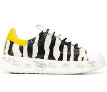 'Belle' Sneakers mit Animal-Print