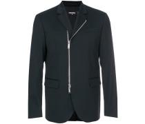 slim-fit zipped blazer