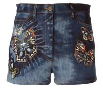 'Tie&Dye Japanese Butterfly' Jeans-Shorts