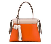 contrast tote bag - women - Leder