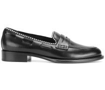 loafers with ball chain trim