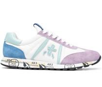 Sneakers mit Leder-Einsätzen