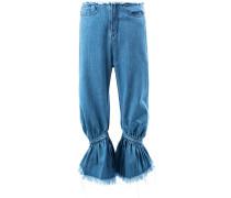 Geraffte Cropped-Jeans - women - Baumwolle - 6