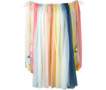 Schulterfreies 'Rainbow' Seidenkleid
