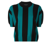Kurzärmeliger Pullover mit Streifen