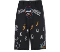 'Nocturnal' Shorts mit Print