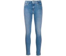 Skinny-Jeans mit Paspeln