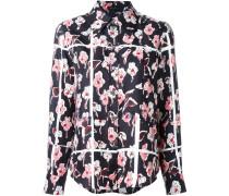 Seidenhemd mit BlumenPrint