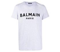 T-Shirt mit geflocktem Logo