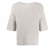 Gerippter Pullover mit Dreiviertelärmeln