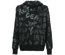 text print hoodie