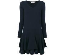 Kleid mit gestuftem Saum
