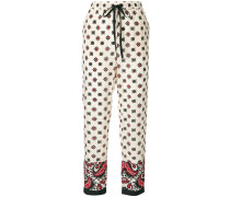floral drawstring trousers