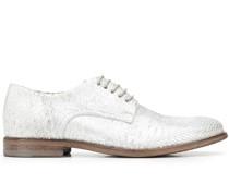Derby-Schuhe in Metallic-Optik