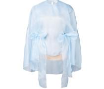 - Organza-Bluse im Cape-Stil - women - Seide - 36