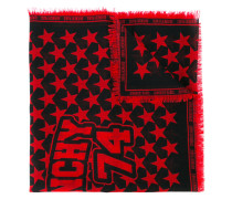 star printed scarf - women - Wolle