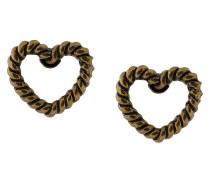 rope heart stud earrings