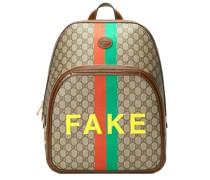 """Rucksack mit """"Fake""""-Print"""