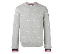 Sweatshirt mit Trompeten-Print