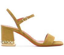 Sandalen mit verziertem Blockabsatz