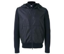 multi-texture hooded jacket