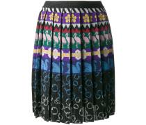 Mandy pleated swan print skirt