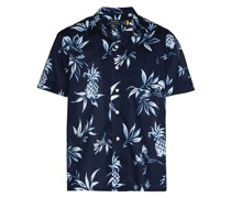 Hemd mit Palmen-Print