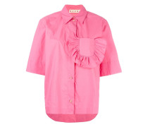 Hemd mit gerüschter Brusttasche - women