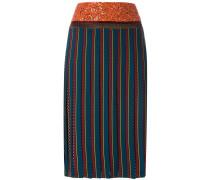 Faltenrock aus Seide