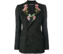 sequinned floral detailed blazer