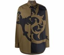 Popeline-Hemd mit Barocco-Motiv