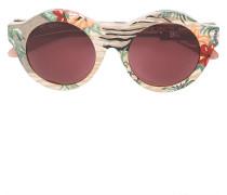 Sonnenbrille mit floralem Print