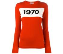 """Intarsien-Pullover mit """"1970""""-Print"""