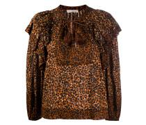 'Carisaa' Bluse mit Leoparden-Print