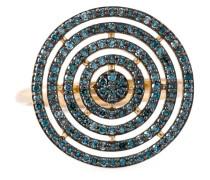 14kt 'Icon Aura' Goldring mit Diamanten