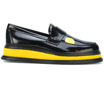 platform loafers with print