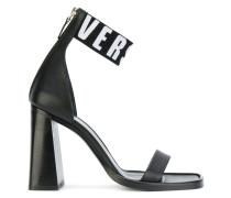 logo strap heeled sandals