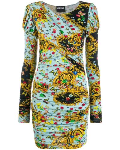 Langärmeliges Kleid mit Print
