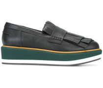 Flatform-Loafer mit bunter Sohle