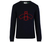 Intarsien-Pullover mit Wespen-Motiv - men