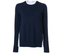 pleated shirt detail jumper