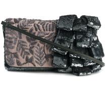 sequin flap clutch bag