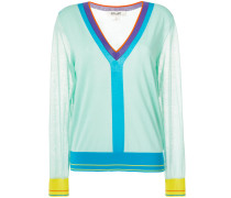 Pullover in Colour-Block-Optik