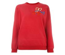 Sweatshirt mit Fisch-Hasen-Stickerei