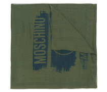 woven distressed logo scarf