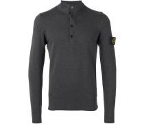 Henley-Hemd mit Logo-Patch - men - Baumwolle